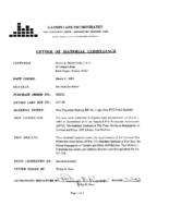 CERTIFICATION NFPA 701 RRL