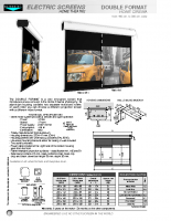DATA SHEET DOUBLE FORMAT HOME CINEMA