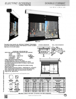 DATA SHEET DOUBLE FORMAT TENSIONED