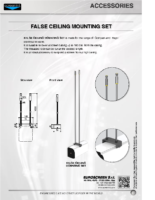 DATA SHEET FALSE CEILING MOUNTING SET