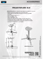 DATA SHEET PROJECTOR ARM B-24