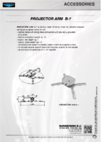 DATA SHEET PROJECTOR ARM B-7
