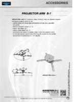 DATA SHEET PROJECTOR ARM B-7