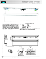 DATA SHEET SCREEN WINCH FOR MAJOR PRO-C