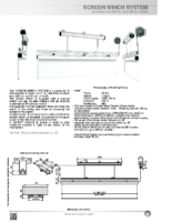 DATA SHEET SCREEN WINCH SYSTEM FOR SCREENS FROM 300 TO 450 CM. WIDTH