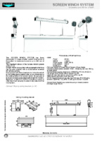 DATA SHEET SCREEN WINCH SYSTEM FOR SCREENS UP TO 300 CM WIDTH