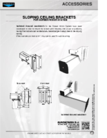 DATA SHEET SLOPING CEILING BRACKETS