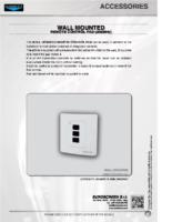 DATA SHEET WALL MOUNTED REMOTE CONTROL PAD