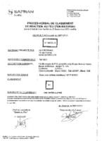 FIRE PROOF CERTIFICATION M1 RRP – FTR