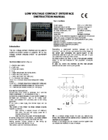 INSTALLATION INSTRUCTIONS LOW VOLTAGE CONTACT INTERFACE