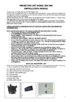 INSTALLATION INSTRUCTIONS PROJECTOR LIFT SI-H 300