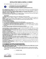 INSTALLATION INSTRUCTIONS RAFFAELLO