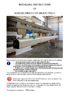 INSTRUCTION MANUAL SCREEN WINCH SYSTEM FOR MAJOR PRO-C